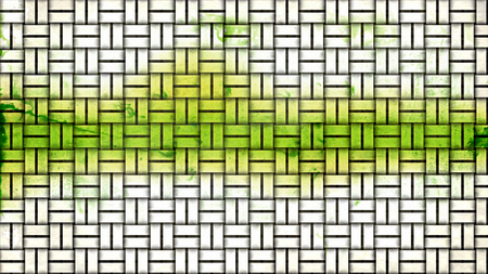 Green and White Basket Twill Texture