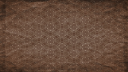 Dark Brown Vintage Floral Ornament Wallpaper Pattern Graphic 版權商用圖片