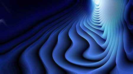 Abstract 3d Cool Blue Curved Lines Texture Background Banco de Imagens