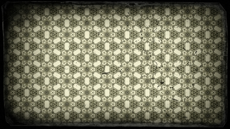 Black and Beige Vintage Decorative Ornament Background Pattern 版權商用圖片