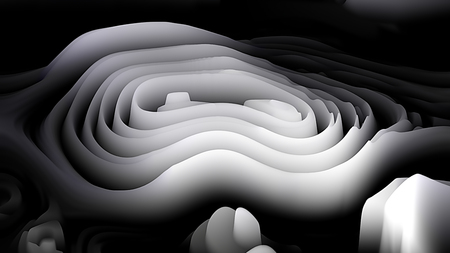 Black and White Curvature Ripple Background Stock Photo