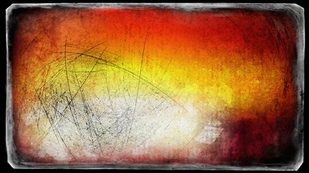 Black Red and Orange Grunge Texture Background