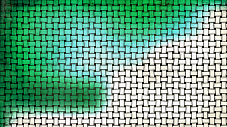 Green and White Wicker Texture Background