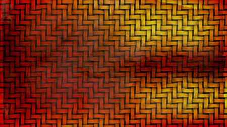 Red and Yellow Woven Basket Texture Background Stock Photo