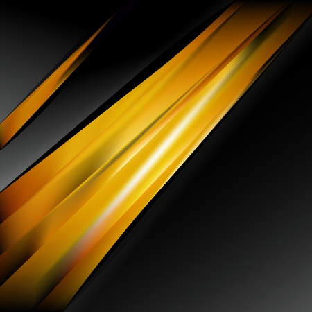 Abstract Orange and Black Business Background