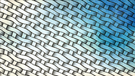 Blue and White Basket Texture Background