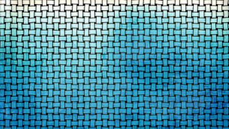 Blue and White Woven Bamboo Background