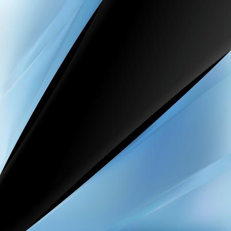 Black and Blue Brochure Design Template Vector