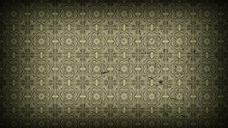 Dark Brown Vintage Floral Pattern Wallpaper Design Template