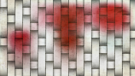 Red and White Basket Texture Background 版權商用圖片