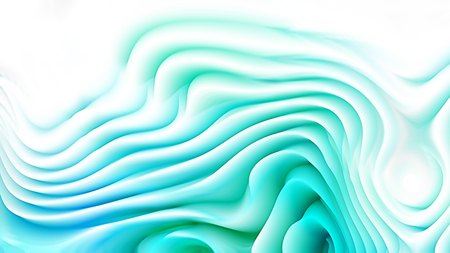 Abstract 3d Turquoise and White Curved Lines Background 版權商用圖片