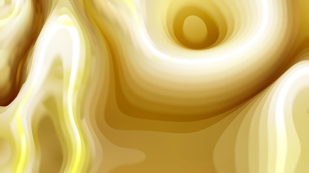 White and Gold 3d Curved Lines Ripple background