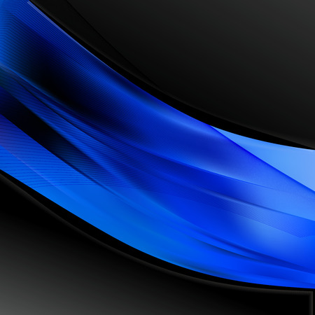 Abstract Black and Blue Wave Business Background 版權商用圖片