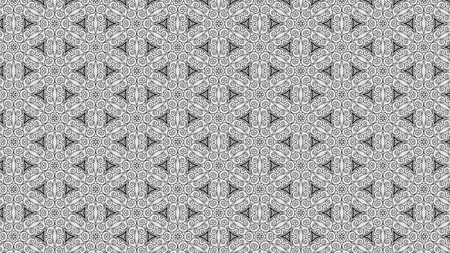 Gray Floral Geometric Pattern Background Template