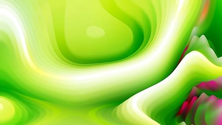 Green and White Curvature Ripple Texture 版權商用圖片