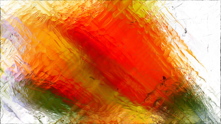 Abstract Orange and White Glass Effect Painting Background Archivio Fotografico