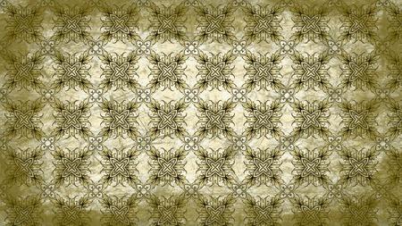 Green and Beige Vintage Ornamental Pattern Wallpaper Template Foto de archivo