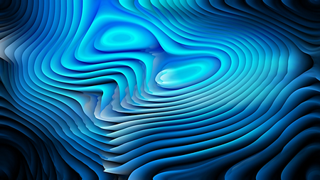 Cool Blue 3d Abstract Curved Lines Texture