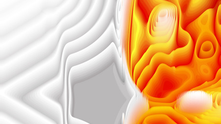 Orange and White 3d Curved Lines Texture Background