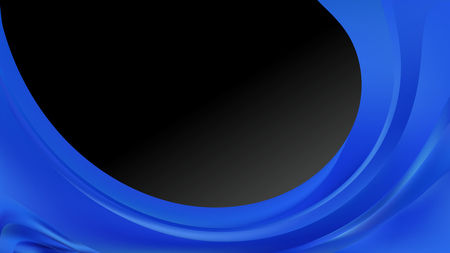 Abstract Cool Blue Wave Business Background Design Template