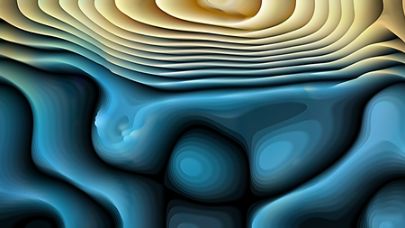 Blue and Gold Curvature Ripple Background Image