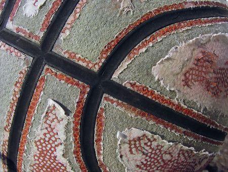 tatter: Un viejo, desgastado de baloncesto con la piel peeling off