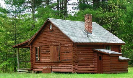 recently: This cabin is one of several that are part of a Boy Scout camp that dates back to the 1930s. The campground has recently been acquired by the town and restored for public use.