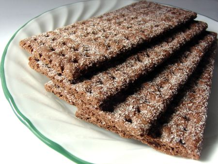 graham: chocolate graham crackers on a plate
