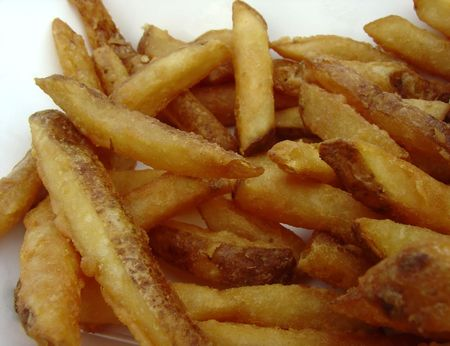 french fries and ketchup Stock Photo - 499910