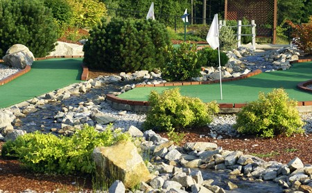 a miniature golf course