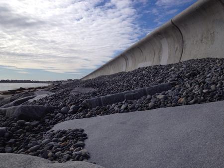 seawall: Seawall protecting the beach