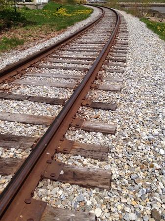 Railroad tracks beside the ocean
