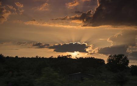 pagan: sunset at Pagan Plain