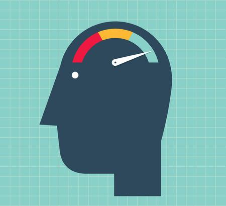Hoofd met een snelheid teller als de hersenen. Verhoog je hersenen? S verwerkingssnelheid.