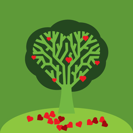 ambiente: Love Tree Illustration