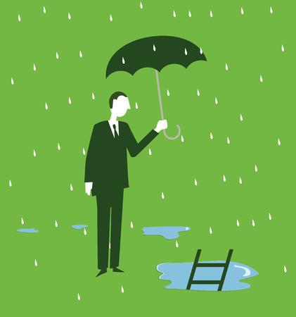 Rain Ladder Illustration
