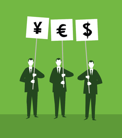 classified ad: Yes Currency Illustration