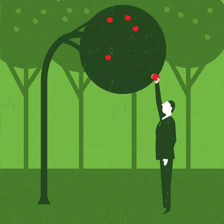 generoso: Apple Tree Vectores
