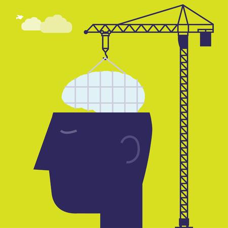 Brain Crane Vector
