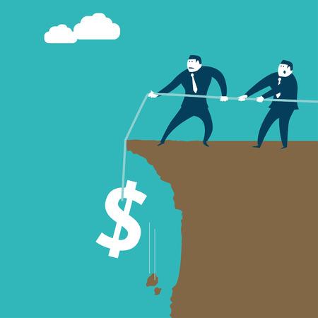 Saving The Dollar Illustration