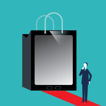 e new: Shopping Bag Illustration