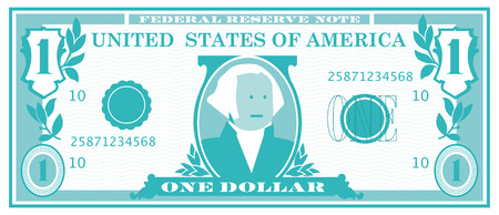 george washington: One Dollar Bill