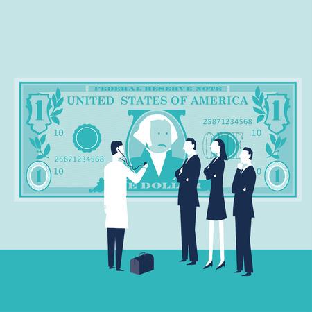 Sick Dollar Illustration