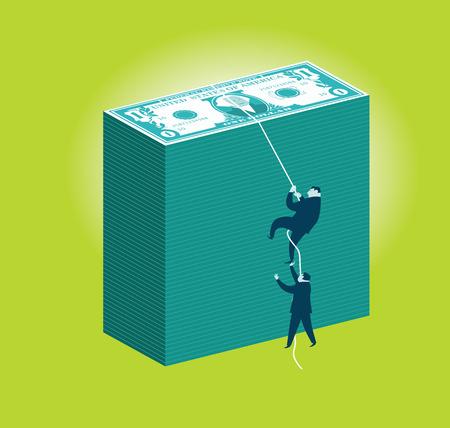 Money Climbers Ilustrace