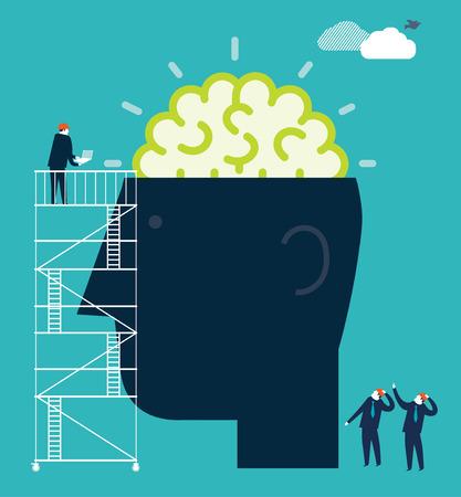 Money Brain Vector
