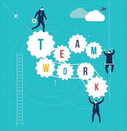 toma de decisiones: Trabajo en equipo Vectores