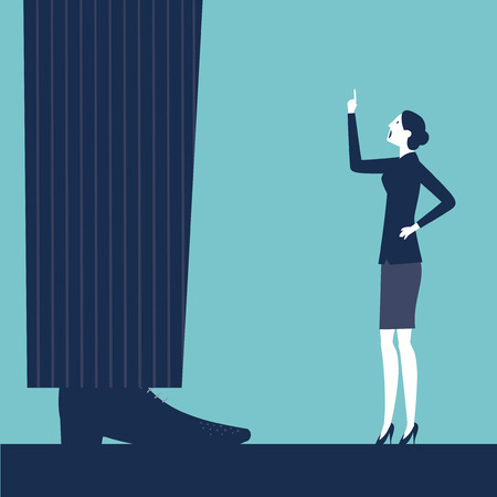 impatient: Vecteur femme gronder son patron Illustration