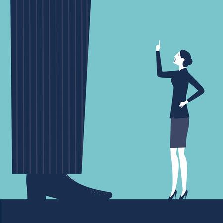 bulling: Vector mujer rega�ando a su jefe