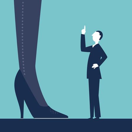 bulling: Un empleado regañando a su jefe