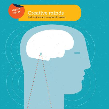 Head with a brain face Vector